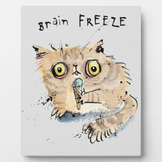 Brain freeze Kitten Plaque