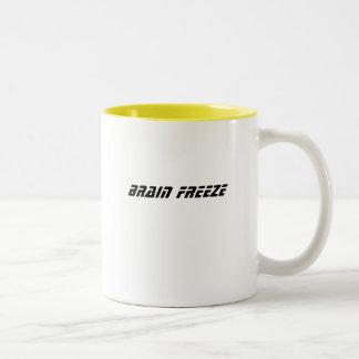 BRAIN FREEZE Two-Tone COFFEE MUG