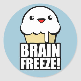 Brain Freeze Round Sticker