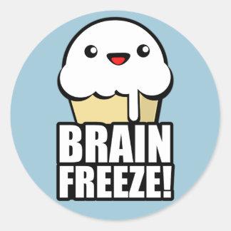 Brain Freeze Round Sticker