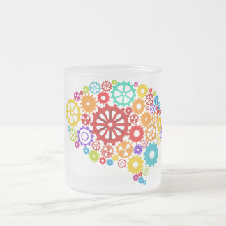 Brain Gears Frosted Mug