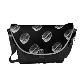 Brain Grid Courier Bag