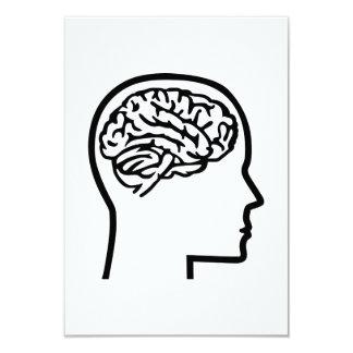 Brain head personalized invitations