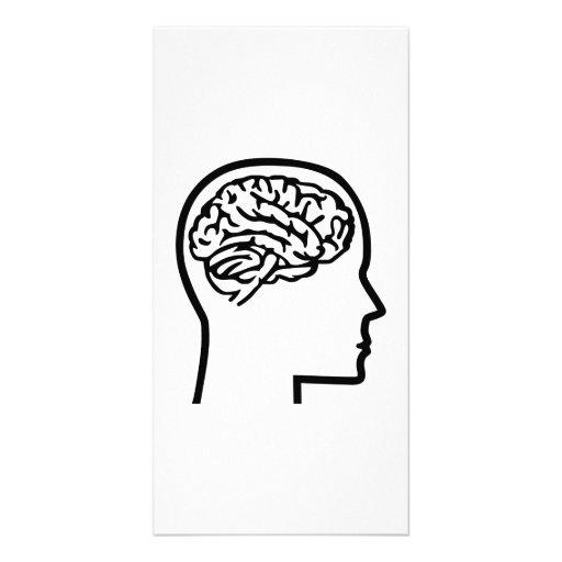Brain head personalized photo card