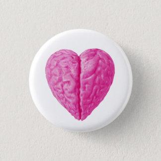 Brain Heart 3 Cm Round Badge