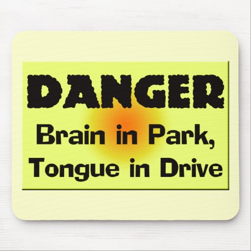 Brain In Park T-shirts Gifts Mouse Mat