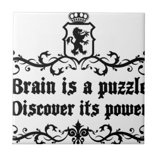 Brain Is A puzzle Discover Its Power Ceramic Tile