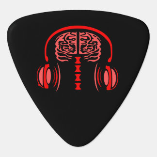 Brain Jam (Red) Guitar Pick