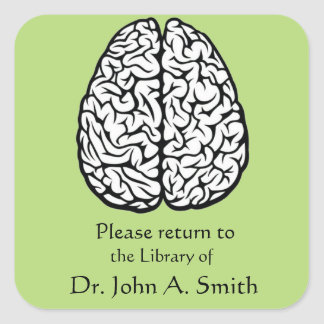 Brain Library Square Sticker