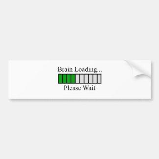 Brain Loading Bar Bumper Sticker