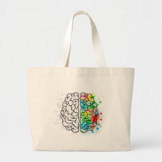 brain mind psychology idea hearts large tote bag