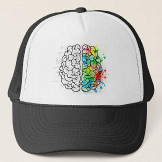 brain mind psychology idea hearts trucker hat