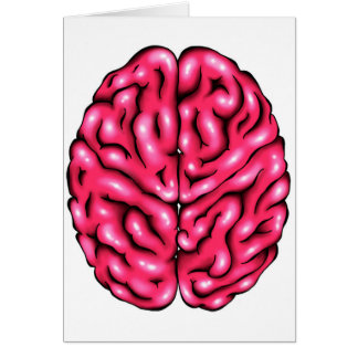 Brain On Love - Blank Greeting Card