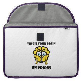Brain on Prions MacBook Pro Sleeves