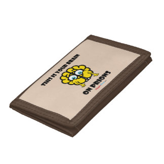 Brain on Prions Tri-fold Wallets