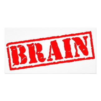 Brain Personalized Photo Card