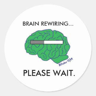 """""""BRAIN REWIRING"""" stickers"""
