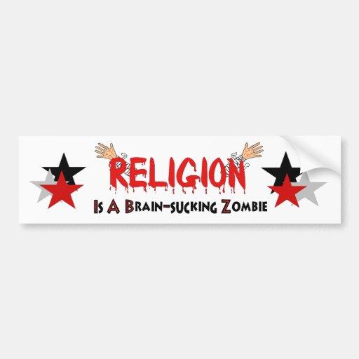 Brain-Sucking Zombie Bumper Stickers