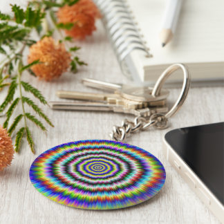 Brain Teaser Basic Round Button Key Ring