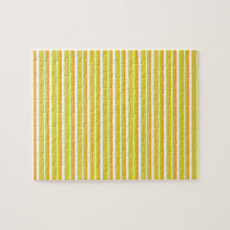 Brain Teaser orange & green stripes jigsaw puzzle