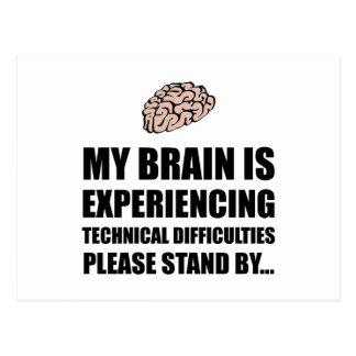 Brain Technical Difficulties Postcard