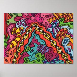 Brain Terrain 31 Abstract Art Mini Poster