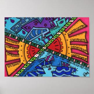 Brain Terrain #49 Abstract Art Mini Poster