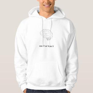 brain, use it or lose it hooded sweatshirts