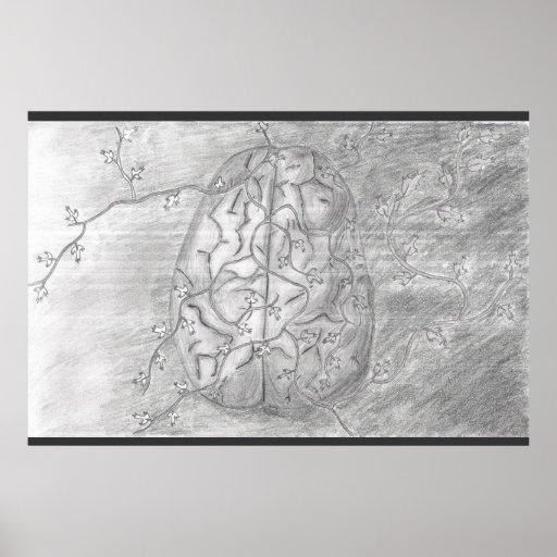Brain with Vines Print