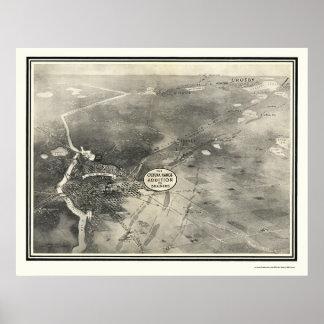Brainerd, MN Panoramic Map - 1914 Poster