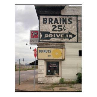 Brains 25 Cents Postcard