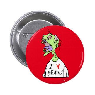 Brains! 6 Cm Round Badge