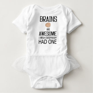 Brains Are Awesome Baby Bodysuit