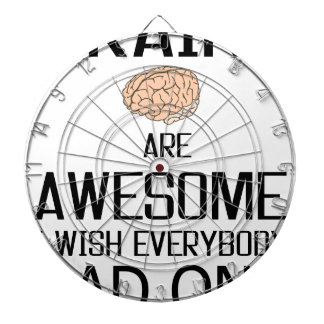 Brains Are Awesome Dartboard