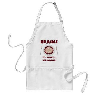 Brains for dinner standard apron
