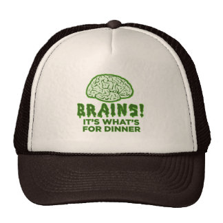 Brains, It's What's For Dinner Mesh Hats