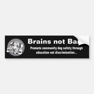 Brains not Bans (black) Bumper Sticker