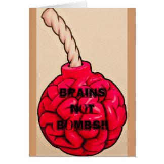 Brains Not Bombs Card