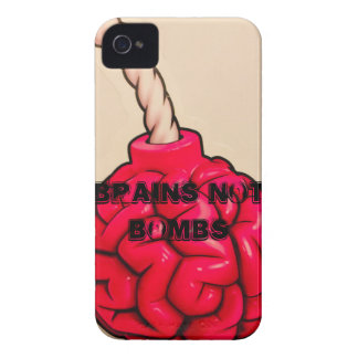 Brains Not Bombs Case-Mate iPhone 4 Cases