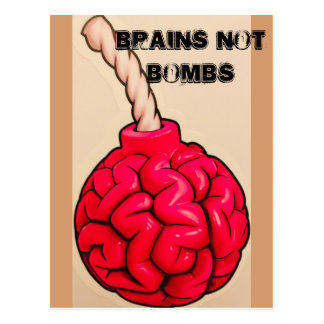Brains Not Bombs Postcard