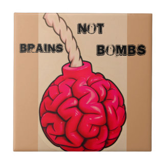 Brains Not Bombs Tile