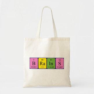 Brains periodic table name tote bag