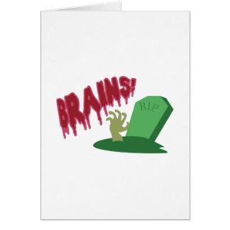 Brains! RIP Greeting Card
