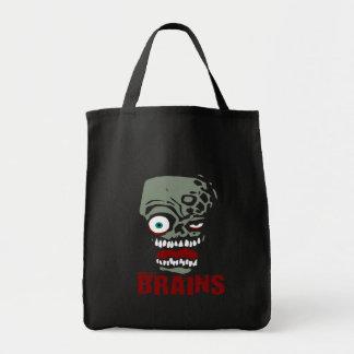 Brains zombie canvas bag