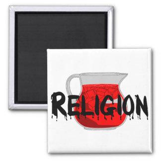Brainwashing Drink Square Magnet