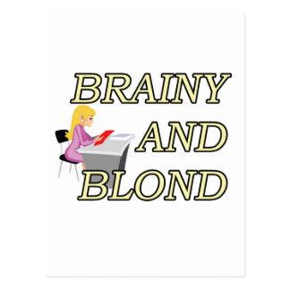 BRAINY AND BLOND SECRETARY POSTCARDS