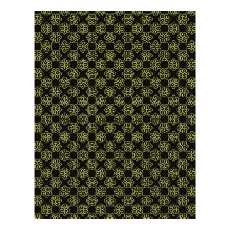 Brainy bacteria pattern 21.5 cm x 28 cm flyer