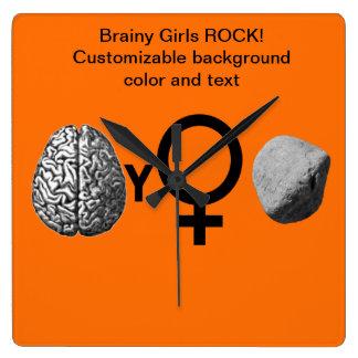 Brainy Girls Rock! Clocks