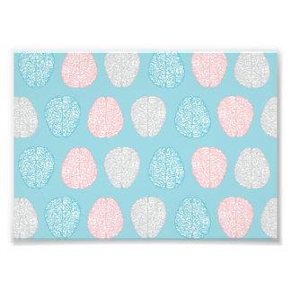 Brainy Pastel Pattern (Awesome Pastel Brains) Art Photo