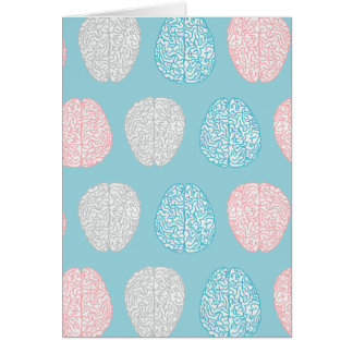 Brainy Pastel Pattern (Awesome Pastel Brains) Card